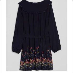 Gap Girls Ruffle Tie Belt Floral Dress Size Small